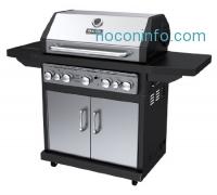 ihocon: Dyna-Glo Black & Stainless Premium Grills, 5 Burner, Liquid Propane Gas