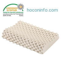 ihocon: LANGRIA Soft Contoured Natural Latex Ergonomic Pillow人體工學天然乳膠枕-含枕頭保護套