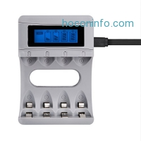 ihocon: Tycipy 4-Bay Charger for Ni-MH Ni-CD AA AAA Rechargeable Batteries,with LCD Display