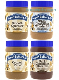ihocon: Peanut Butter & Co. Top Sellers Pack, Non-GMO, Gluten Free, Vegan, 16 Ounce Jars (Pack of 4)