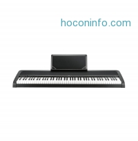 ihocon: Korg B1 88 Key Digital Piano with Enhanced Speaker System & Hammer Action - Black