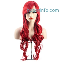 ihocon: MelodySusie Cosplay Red Curly Wig with Free Wig Cap and Wig Comb 假髮
