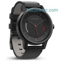 ihocon: Garmin Vivomove Classic Activity Tracker - Black with Leather Band