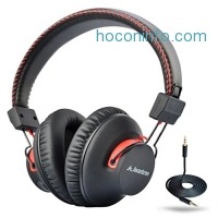 ihocon: Avantree 40 hr Wireless / Wired Bluetooth 4.0 Over-the-Ear Headphones / Headset with Mic, aptX Hi-Fi, Extra COMFORTABLE and LIGHTWEIGHT, NFC, DUAL Mode - Audition [2-Year Warranty]
