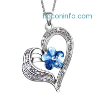 ihocon: Sivery 'Timeless Love' Women Heart Necklace Pendant Made with Swarovski Crystal, Jewelry for Women Gifts for Her