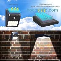 ihocon: Mulcolor LED Waterproof Solar Motion Sensor Light(Pack of 2)太陽能動作感應戶外照明燈