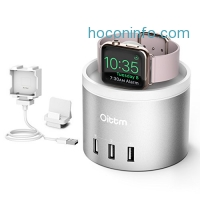 ihocon: Oittm 3 in 1 Apple Watch Charging Stand, 4-Port USB Charging Station with Phone Holder