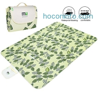 ihocon: Large Foldable Waterproof Picnic Blanket 78x57防水野餐毯