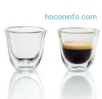 ihocon: DeLonghi Double Walled Thermo Espresso Glasses, Set of 2