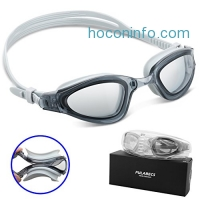ihocon: Pulabecs Swimming Goggles With Anti Fog UV Clear Lenses防霧抗紫外線游泳蛙鏡