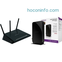 ihocon: NETGEAR Nighthawk AC1750 Smart Dual Band WiFi Router (R6700) with DOCSIS 3.0 Cable Modem. Max download speeds of 680Mbps. Certified for XFINITY by Comcast, Time Warner, Cox, Charter & more (CM500)