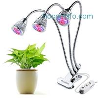 ihocon: LED Grow Light 三頭夾式植物生長燈