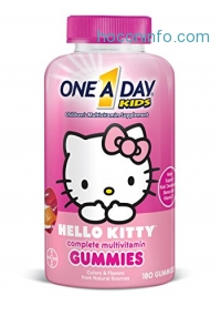 ihocon: One A Day Kids Hello Kitty Gummies, 180 Count兒童維他命軟糖
