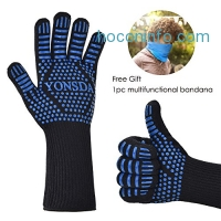 ihocon: Heat Resistant BBQ Gloves, 1 Pair隔熱手套