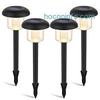 ihocon: LED Solar Pathway Lights, 4-Pack 太陽能庭園燈