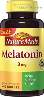 ihocon: Nature Made Melatonin Tablets, Value Size, 3 Mg, 240 Count