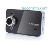 ihocon: K6000 Full HD 1080P 165 Wide Angle Dashboard Camera, Car DVR Vehicle Dash Cam with G-Sensor, WDR Superior Night Mode, Loop Recording, Black
