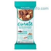 ihocon: Curate Gluten-Free Snack Bars, Salted Decadence Dark Chocolate & Almonds, 1.59 oz, 16 count