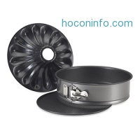 ihocon: Nordic Ware Bundt Fancy Springform Pan with 2 Bottoms, 9 Inch蛋糕模
