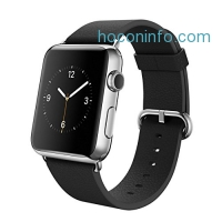 ihocon: Apple Watch 蘋果智能手表 Stainless Steel Case with Black Classic Buckle(38MM)