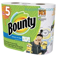 ihocon: Bounty Despicable Me 3 Select-A-Size Paper Towels with Minion Prints, Huge Roll, 12 Count