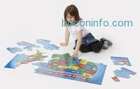 ihocon: Melissa & Doug USA Map Floor Puzzle (51 pcs, 2 x 3 feet)大型美國地圖拼圖