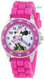 ihocon: Disney Kids' MN1157 Minnie Mouse Pink Watch with Rubber Band
