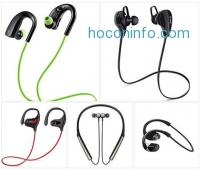 ihocon: Wireless Earbuds with Mic,Bluetooth Headphones,Noise Cancelling Earphone,HD Stereo Sports Headset for iPhone / Samsung / Android / Smartphones