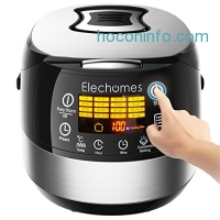 ihocon: Elechomes CR502 10 Cups LED Touch Control Electric Rice Cooker (Stainless Steel)多功能電飯鍋