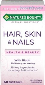 ihocon: Nature's Bounty Optimal Solutions Hair, Skin & Nails Formula, 60 Tablets