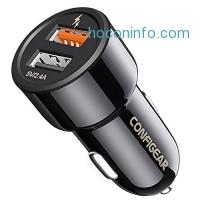 ihocon: Configear Dual Port Quick Car Charger快速充電器