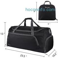 ihocon: OXA 53L Lightweight Foldable Travel Duffel Bag + Shoes Bag