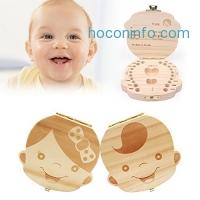 ihocon: Yoption Baby Wooden Teeth Box 兒童乳牙留念盒