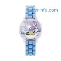 ihocon: Disney Frozen Watch Olaf Light Up Snow Globe Digital Blue Kids' Watch FZN3647