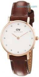 ihocon: Daniel Wellington Women's 0900DW St. Mawes Stainless Steel Watch with Brown Strap