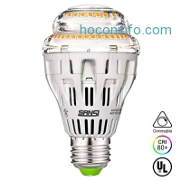 ihocon: SANSI A19 15W (150-125 Watt Equivalent) Ceramic LED Light Bulb–Dimmable光線微調燈泡