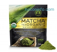 ihocon: Matcha Green Tea Powder Organic, Japanese Premium Culinary Grade, Unsweetened & Sugar Free - USDA & Vegan Certified - 30g (1.06 oz) - Perfect for Baking, Smoothies, Latte, Iced tea & Weight Loss.