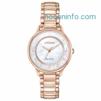 ihocon:  Citizen Eco-Drive Women's EM0382-86D Circle of Time Diamond Markers Watch