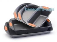 ihocon: Rachael Ray 不沾烤盤組 Oven Lovin' Non-Stick 5-Piece Bakeware Set