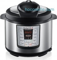 ihocon: Instant Pot IP-LUX50 6-in-1 Programmable Pressure Cooker, 5Qt/900W, Stainless Steel Cooking Pot and Exterior