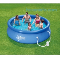 ihocon: Summer Escapes 10' x 30 Quick Set Round Above Ground Swimming Pool with Filter Pump System快速架設居家游泳池