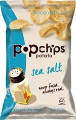 ihocon: Popchips Potato Chips, Sea Salt Potato Chips, (3.5 oz Bags), Gluten Free Potato Chips, Low Fat, No Artificial Flavoring, Kosher (Pacl of 12)
