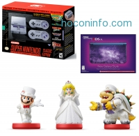 ihocon: Nintendo SNES with Galaxy-Style 3DS XL and Mario Odyssey Amiibos