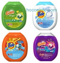ihocon: Tide Pods Plus Febreze He Turbo Laundry Detergent Pacs Tub, Botanical Rain, 61 Count