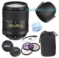 ihocon: Nikon AF-S DX NIKKOR 18-300mm f/3.5-6.3G ED VVR Zoom Lens (White Box ) + 3 Piece Filter Kit + Lens Pouch + Lens Hood + More - Walmart.com