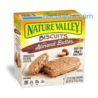 ihocon: Nature Valley Biscuits, Almond Butter, Breakfast Biscuits with Nut Filling, 5 Bars, Pack of 12