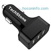 ihocon: TechStone 3 Ports USB Smart Car Charger汽車充電器