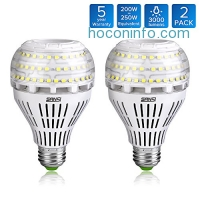 ihocon: SANSI A21 22W (250-200Watt Equivalent)Omni-directional Ceramic LED Light Bulbs (2Pack)