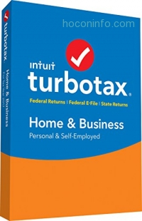 ihocon: TurboTax Home & Business Tax Software 2017 Fed+Efile+State PC/MAC Disc [Amazon Exclusive]