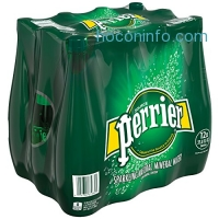ihocon: PERRIER Sparkling Mineral Water, 33.8 fl oz. Plastic Bottles (Pack of 12)
